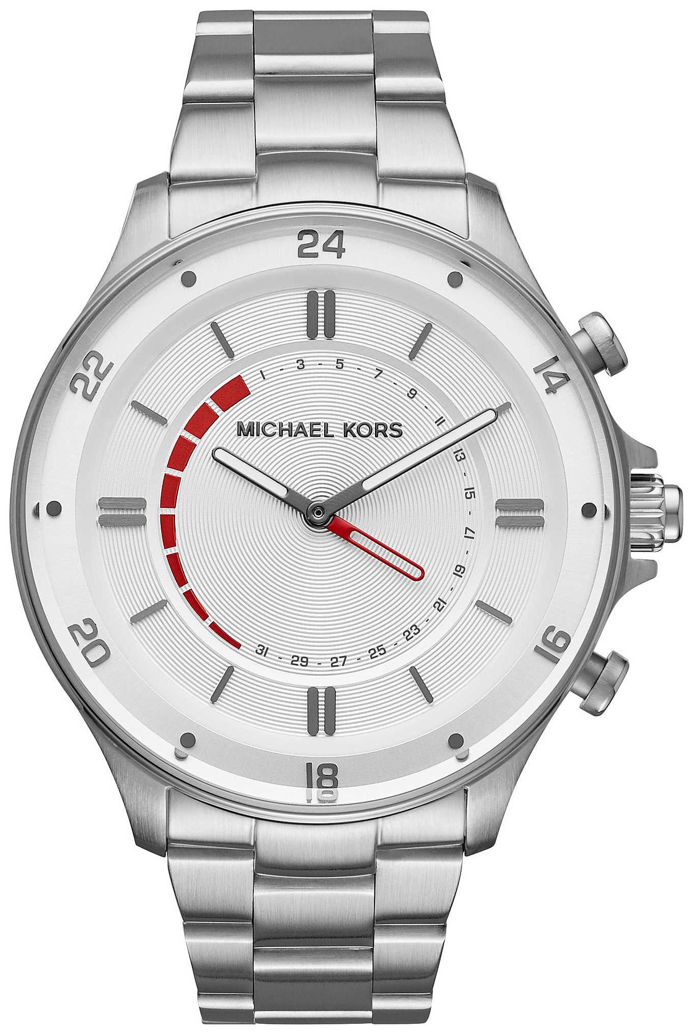 Michael Kors Smartwatch Herreklokke MKT4013 Sølvfarget/Stål Ø45 mm - Michael Kors