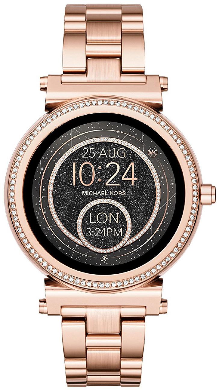 Michael Kors Smartwatch Dameklokke MKT5022 LCD/Rose-gulltonet stål - Michael Kors