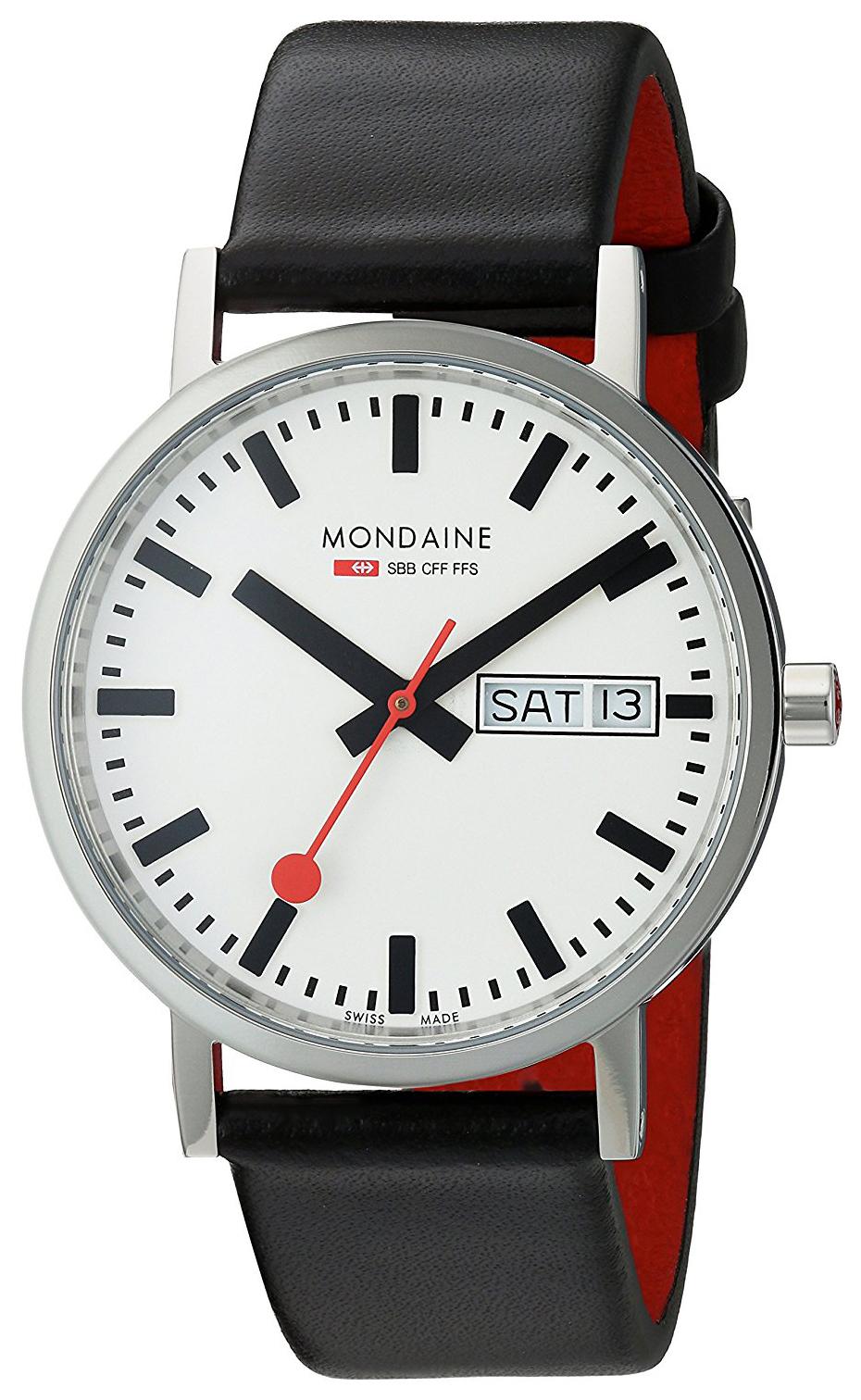 Mondaine 99999 Herreklokke A667.30314.11SBB Hvit/Lær Ø36 mm - Mondaine
