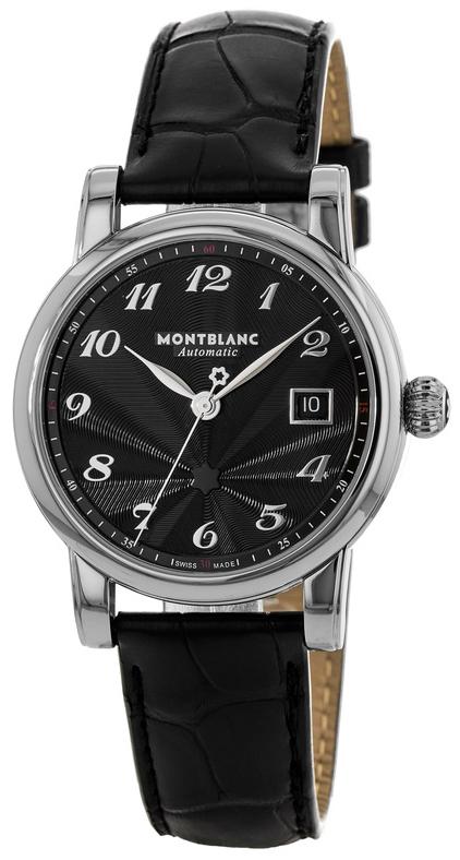 Montblanc Star Herreklokke 107314 Sort/Lær Ø40 mm - Montblanc