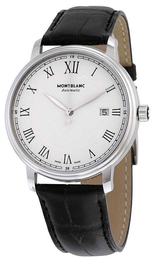 Montblanc Tradition Herreklokke 112609 Hvit/Lær Ø40 mm - Montblanc