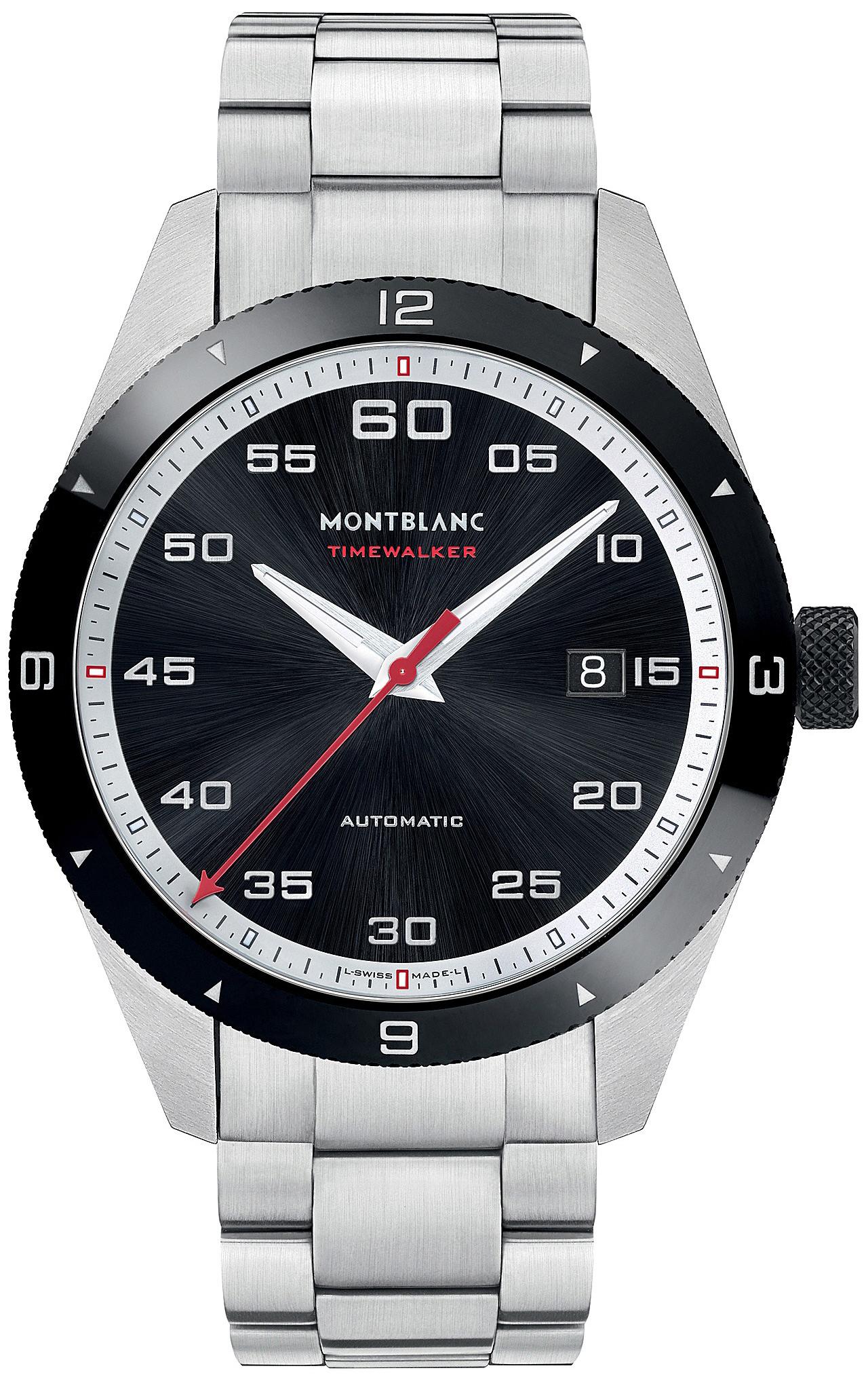 Montblanc Timewalker Herreklokke 116060 Sort/Stål Ø41 mm - Montblanc