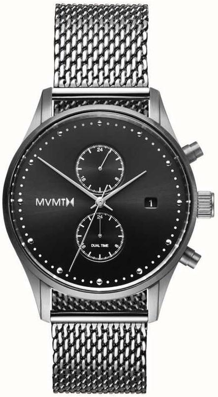 MVMT Voyager Herreklokke MV01-S2 Sort/Stål Ø42 mm - MVMT