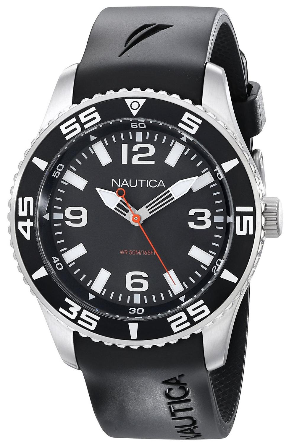 Nautica NST Herreklokke N11562G Sort/Resinplast Ø44 mm - Nautica