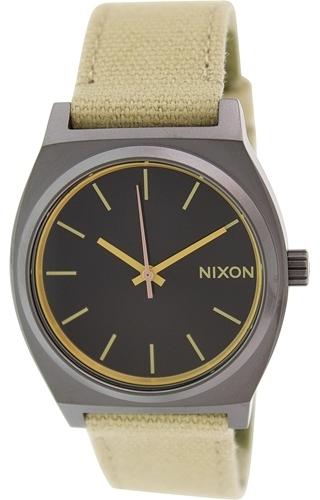 Nixon The Time Teller Herreklokke A0451711-00 Sort/Tekstil Ø37 mm - Nixon