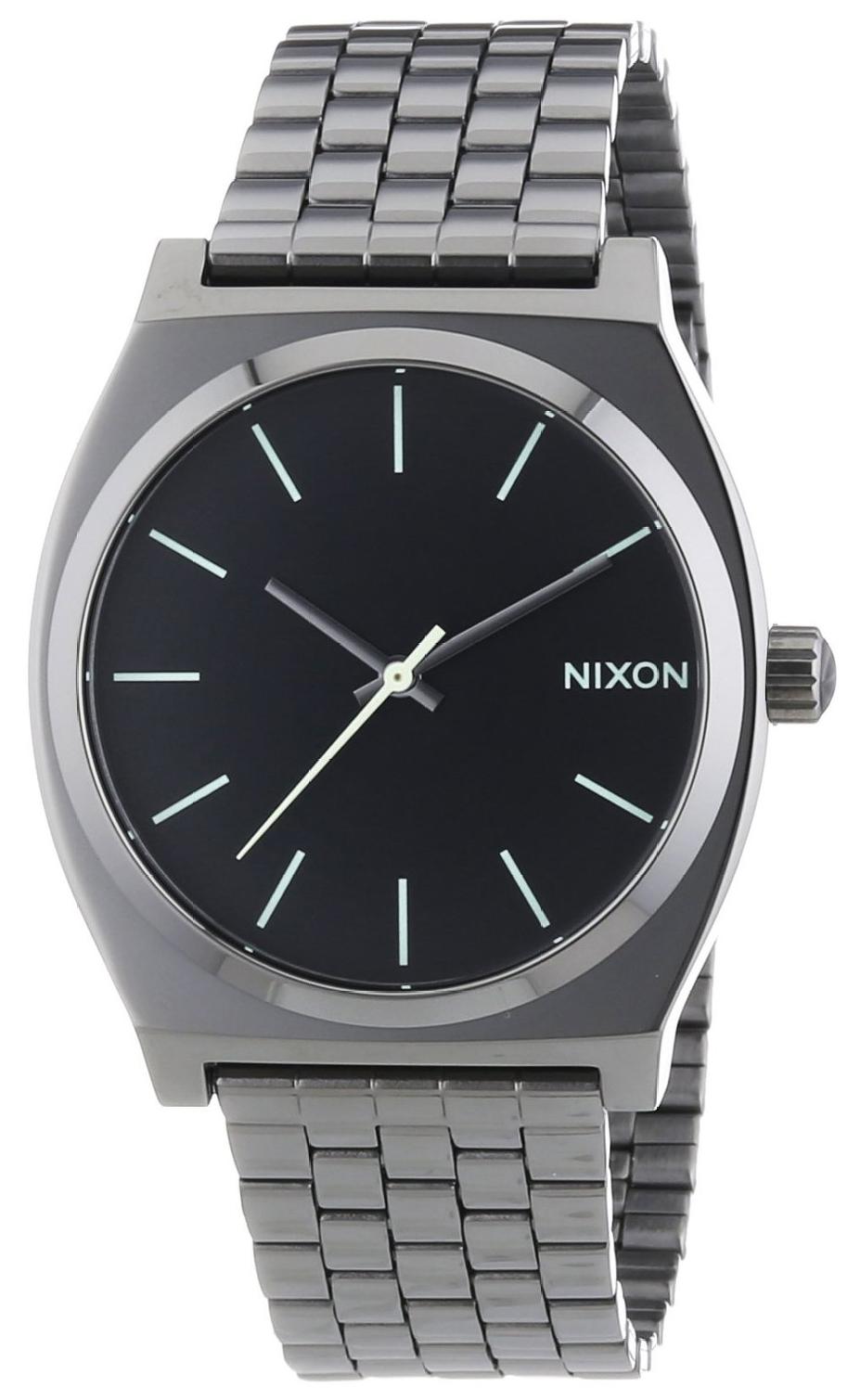 Nixon The Time Teller Herreklokke A0451885-00 Sort/Stål Ø43 mm - Nixon