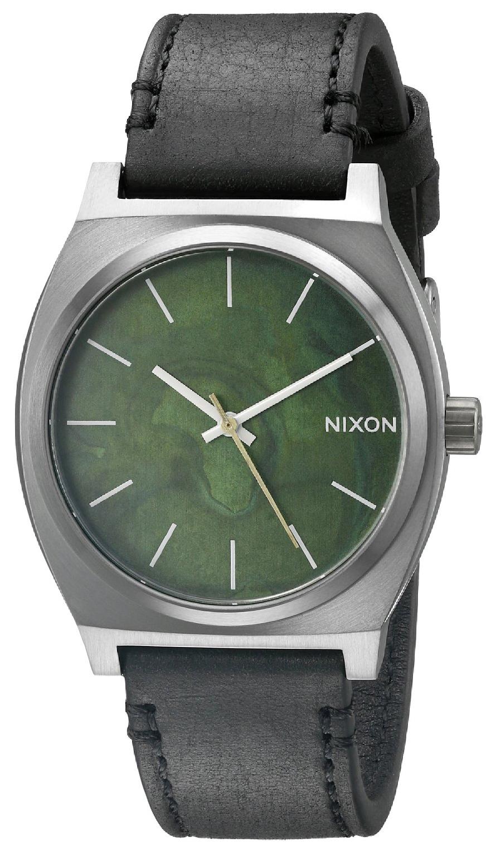 Nixon The Time Teller Herreklokke A0452070-00 Grønn/Lær - Nixon
