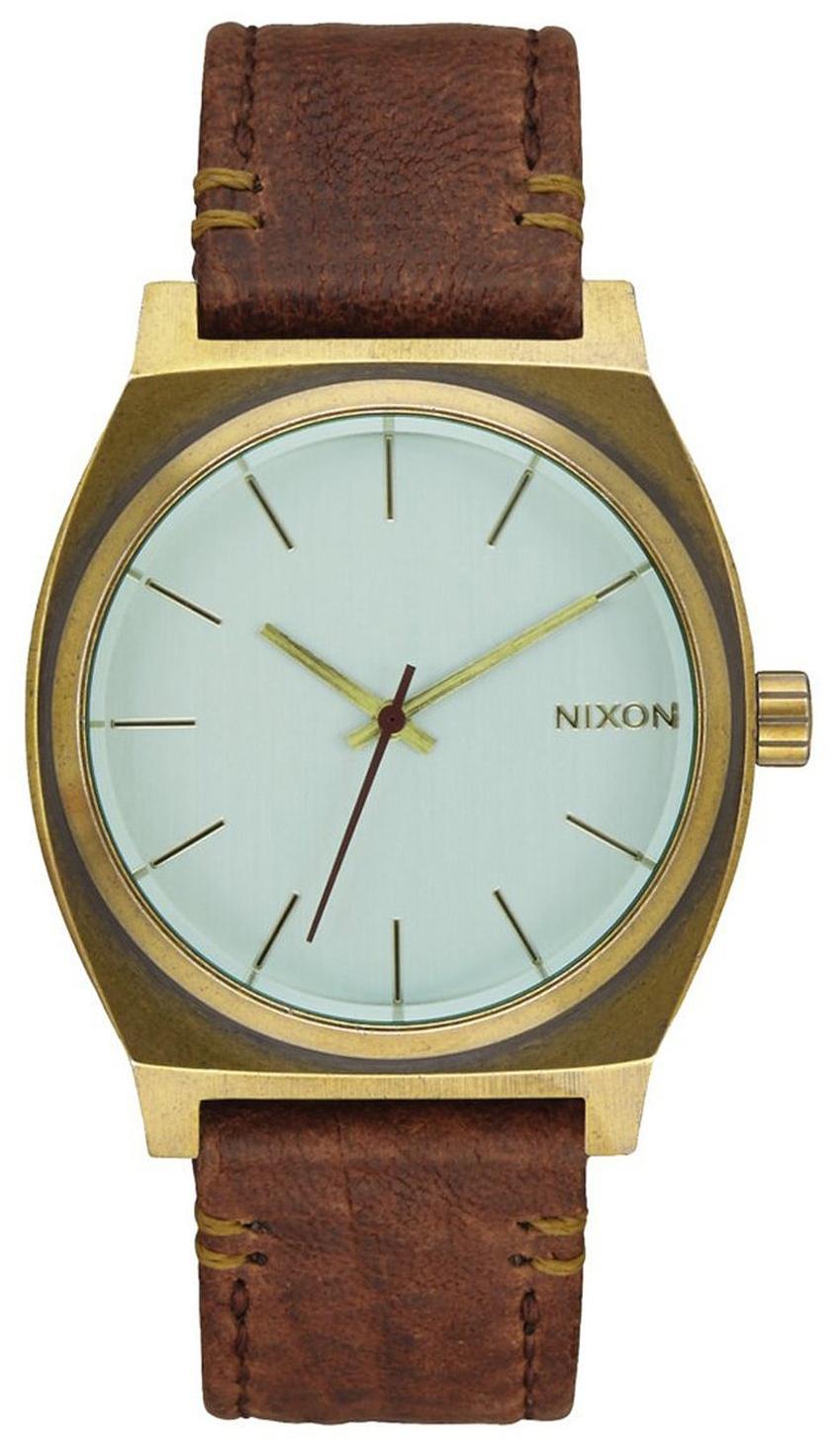 Nixon The Time Teller Herreklokke A0452223-00 Grønn/Lær Ø37 mm - Nixon