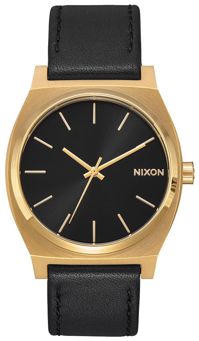 Nixon The Time Teller Herreklokke A0452639-00 Sort/Lær - Nixon