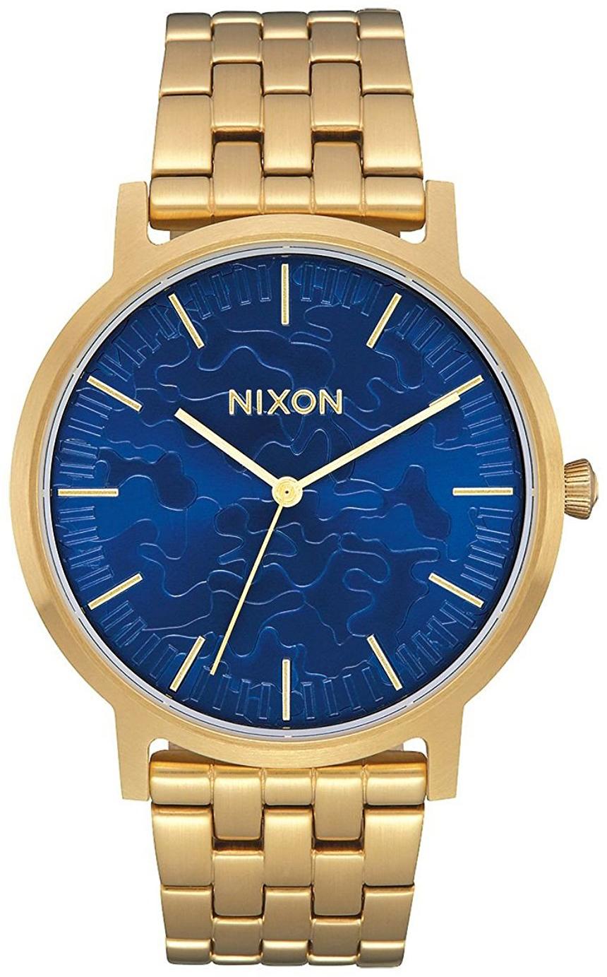 Nixon 99999 Herreklokke A10572732-00 Blå/Gulltonet stål Ø40 mm - Nixon