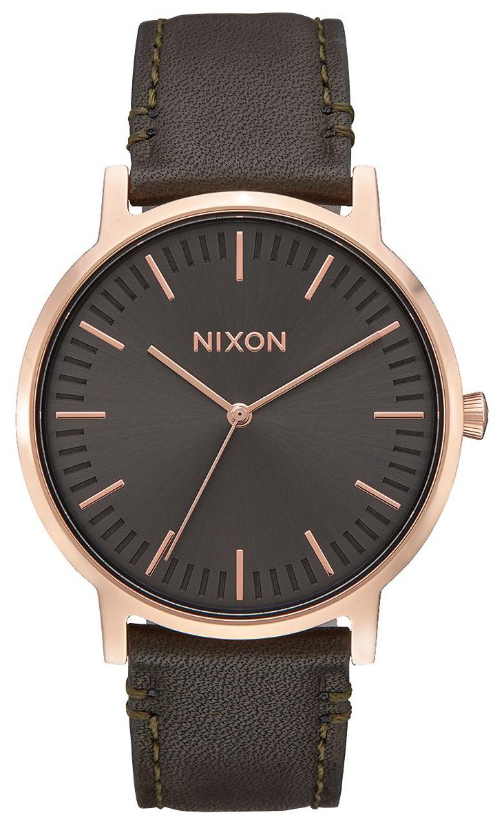 Nixon 99999 Herreklokke A10582441-00 Grå/Lær Ø40 mm - Nixon
