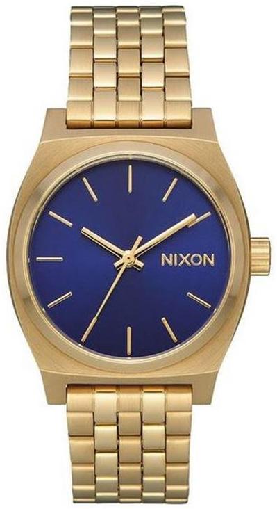 Nixon The Time Teller Dameklokke A11302811-00 Blå/Gulltonet stål - Nixon