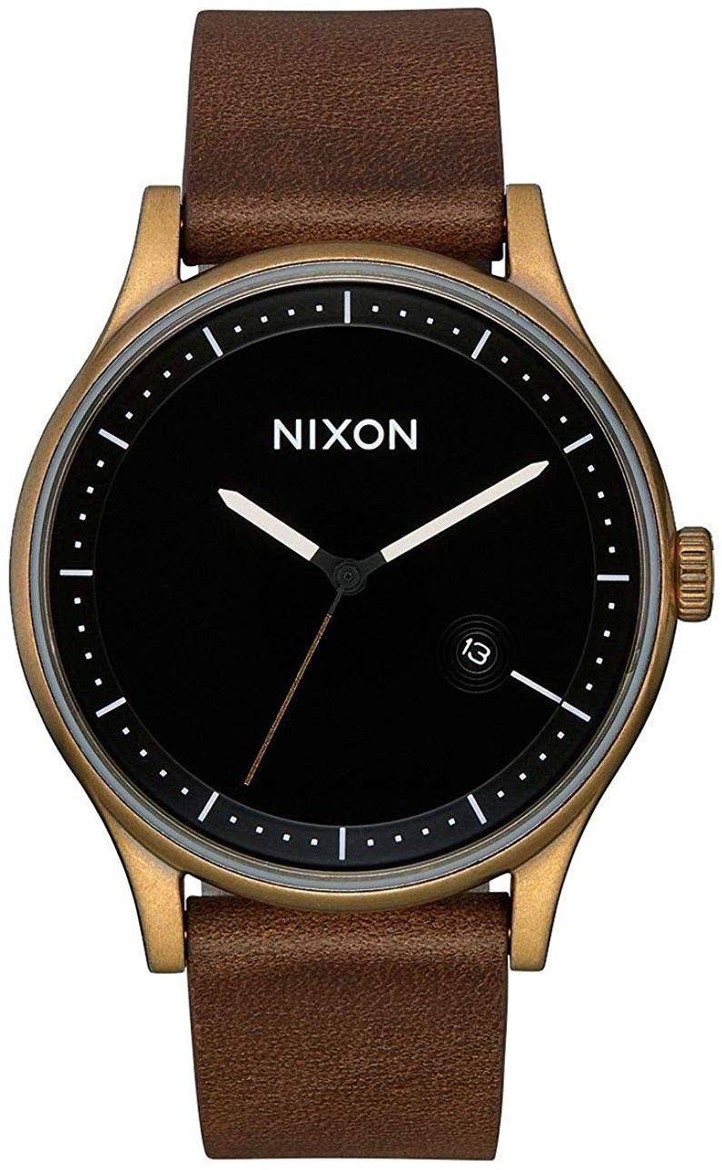 Nixon 99999 Herreklokke A11613053-00 Sort/Lær Ø41 mm - Nixon