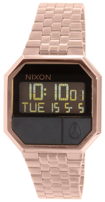 Nixon The Re-Run Herreklokke A158897-00 LCD/Rose-gulltonet stål - Nixon