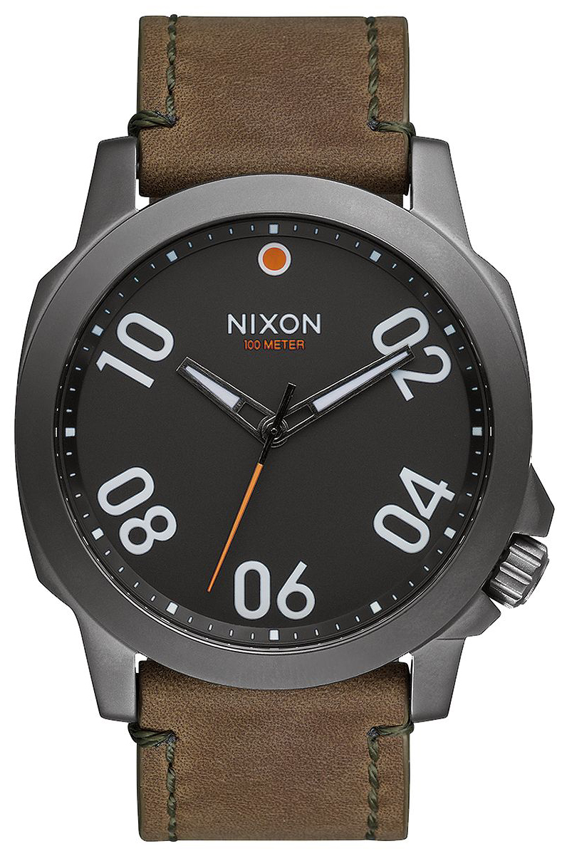 Nixon 99999 Herreklokke A4662072-00 Sort/Lær Ø45 mm - Nixon