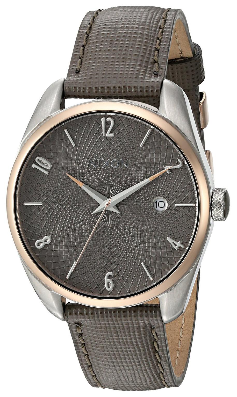 Nixon 99999 Dameklokke A4732214-00 Grå/Lær Ø38 mm - Nixon