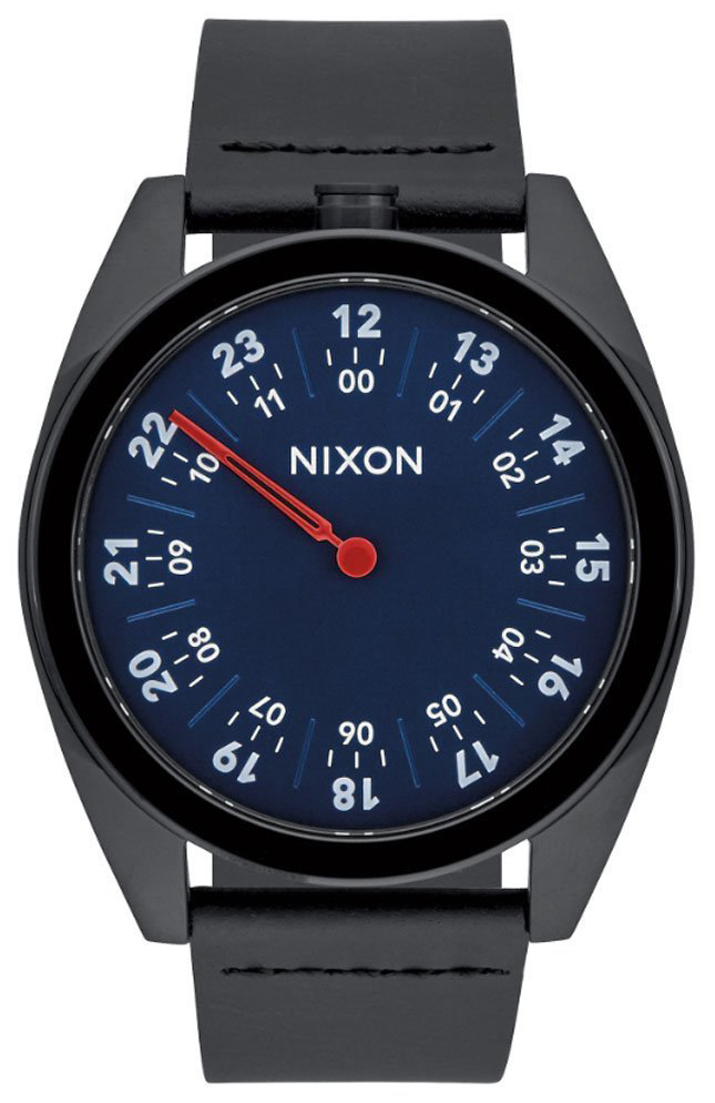 Nixon 99999 Herreklokke A9262315-00 Blå/Lær Ø43 mm - Nixon