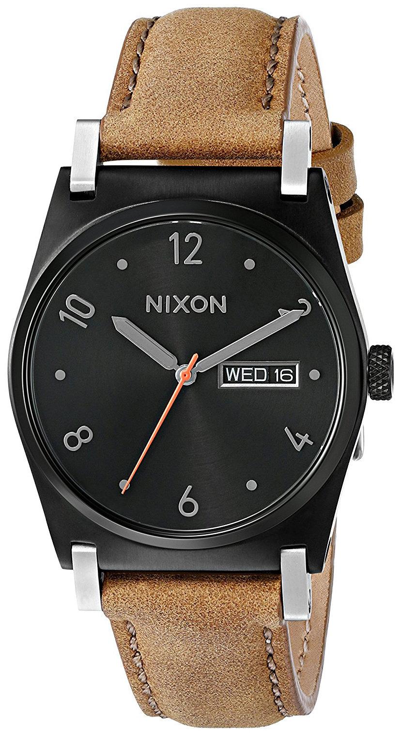 Nixon 99999 Dameklokke A9551037-00 Sort/Lær Ø36 mm - Nixon