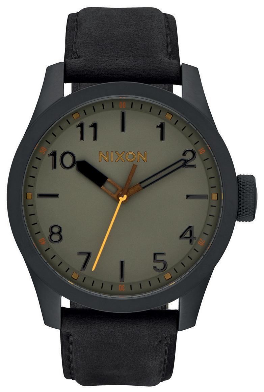 Nixon 99999 Herreklokke A9752430-00 Grønn/Lær Ø43 mm - Nixon