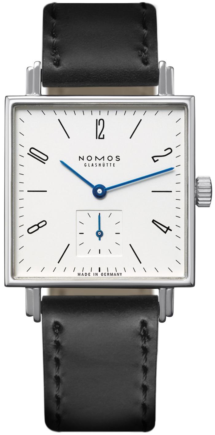 Nomos Glashütte Tetra N-406 Hvit/Lær - Nomos Glashütte