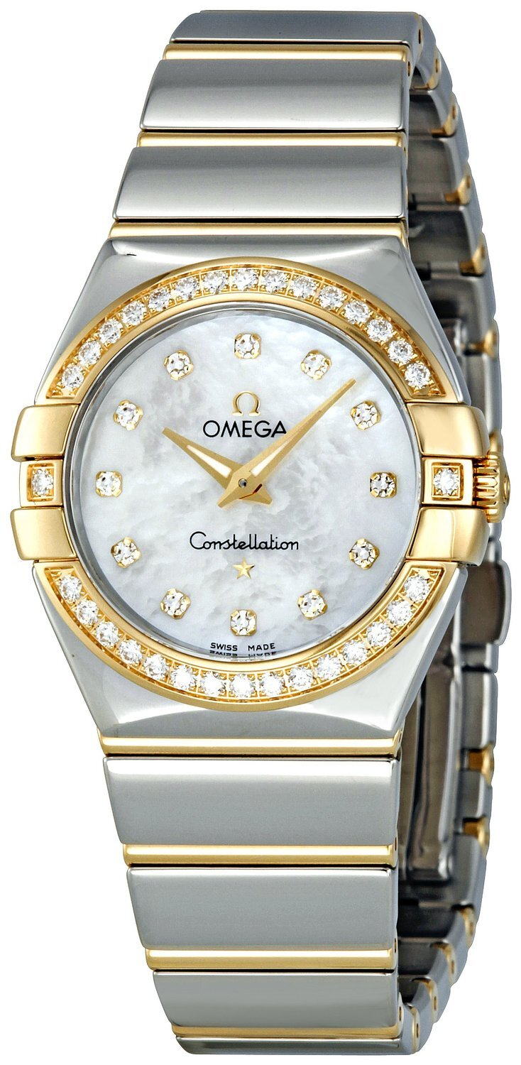 Omega Constellation Quartz 27mm Dameklokke 123.25.27.60.55.007 - Omega