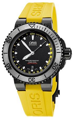 Oris Diving Herreklokke 01 733 7675 4754-Set RS Sort/Gummi Ø46 mm - Oris