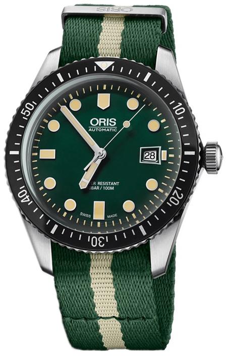 Oris Diving Herreklokke 01 733 7720 4057-07 5 21 24FC Grønn/Stål - Oris