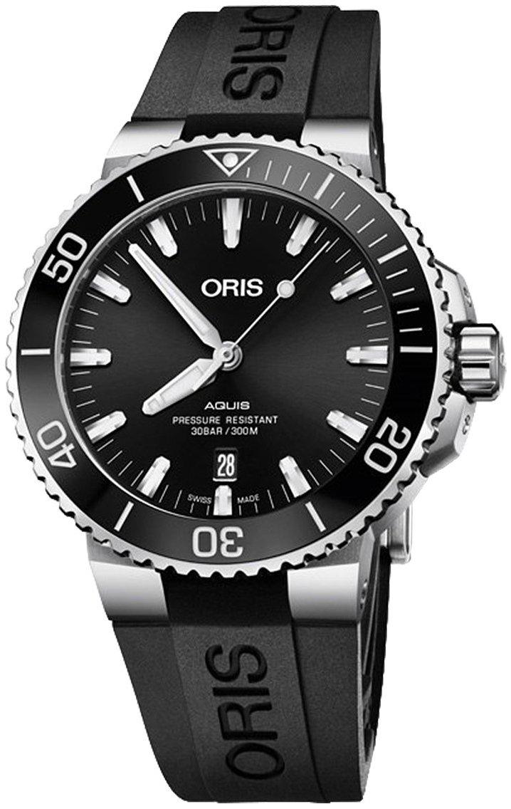 Oris Diving Herreklokke 01 733 7730 4134-07 4 24 64EB Sort/Gummi - Oris