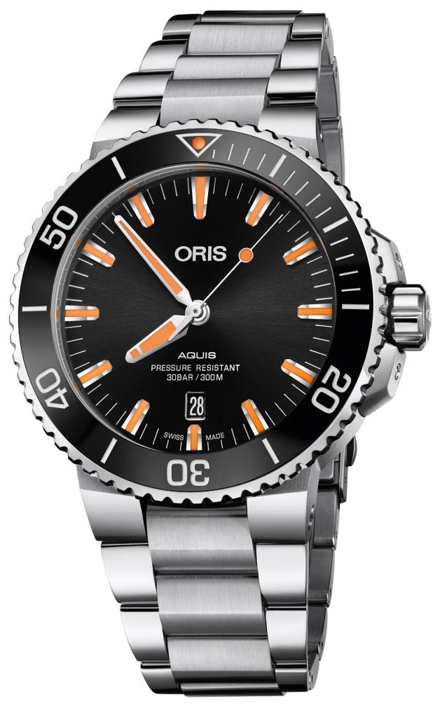 Oris Diving Herreklokke 01 733 7730 4159-07 8 24 05PEB Sort/Stål - Oris