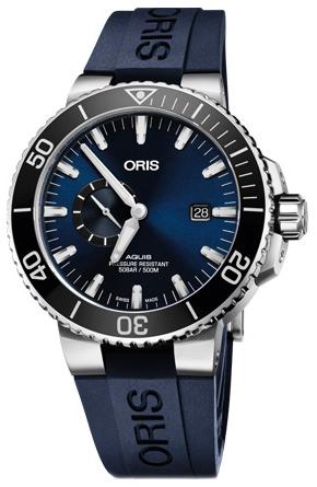 Oris Diving Herreklokke 01 743 7733 4135-07 4 24 65EB Blå/Gummi - Oris