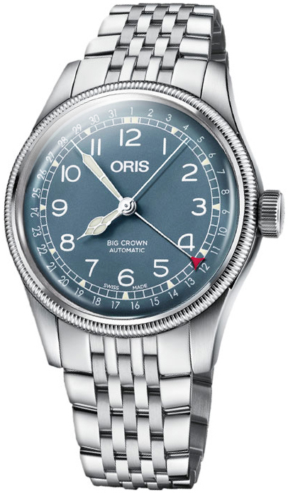 Oris Aviation Herreklokke 01 754 7741 4065-07 8 20 22 Blå/Stål Ø40 - Oris
