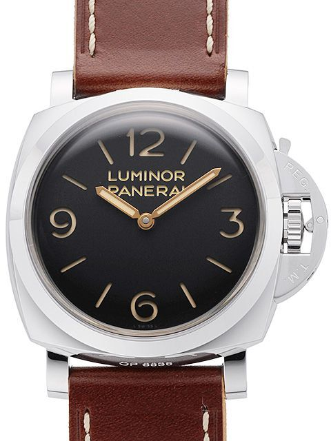 Panerai Historic Luminor 1950 3 Days Herreklokke PAM 372 Sort/Lær - Panerai