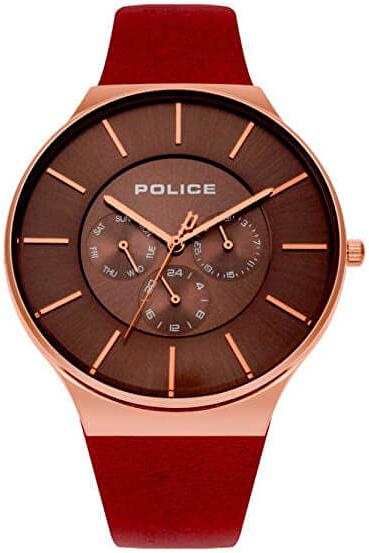 Police 99999 Herreklokke PL15044JSR/12 Brun/Lær Ø43 mm - Police