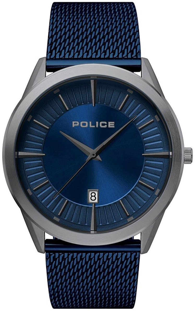 Police Patriot Herreklokke PL15305JSU/03MM Blå/Stål Ø44 mm - Police