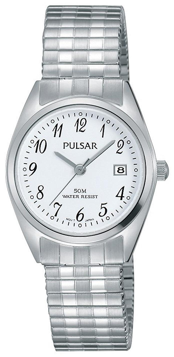 Pulsar Dress Dameklokke PH7443X1 Hvit/Stål Ø26 mm - Pulsar