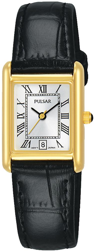 Pulsar Classic Dameklokke PH7484X1 Sølvfarget/Lær - Pulsar