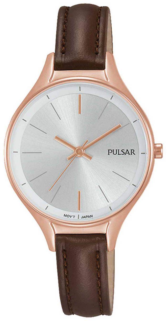 Pulsar Dress Dameklokke PH8282X1 Sølvfarget/Lær Ø29 mm - Pulsar