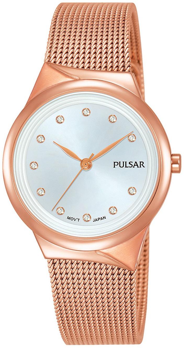 Pulsar Classic Dameklokke PH8442X1 Sølvfarget/Rose-gulltonet stål - Pulsar