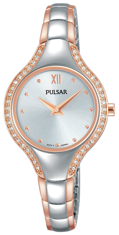 Pulsar Dress Dameklokke PM2230X1 Sølvfarget/Rose-gulltonet stål - Pulsar