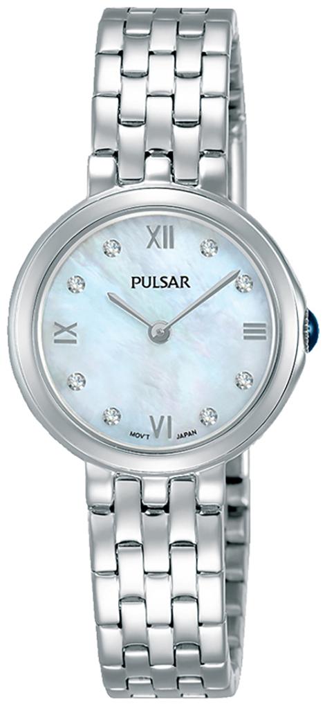 Pulsar Attitude Dameklokke PM2243X1 Hvit/Stål Ø26 mm - Pulsar
