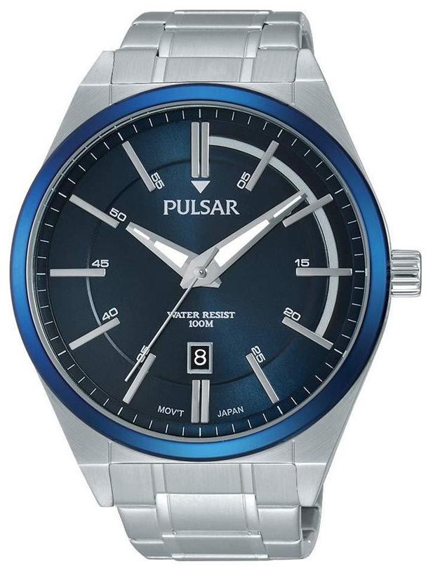 Pulsar Pulsar X Herreklokke PS9363X1 Blå/Stål Ø45 mm - Pulsar