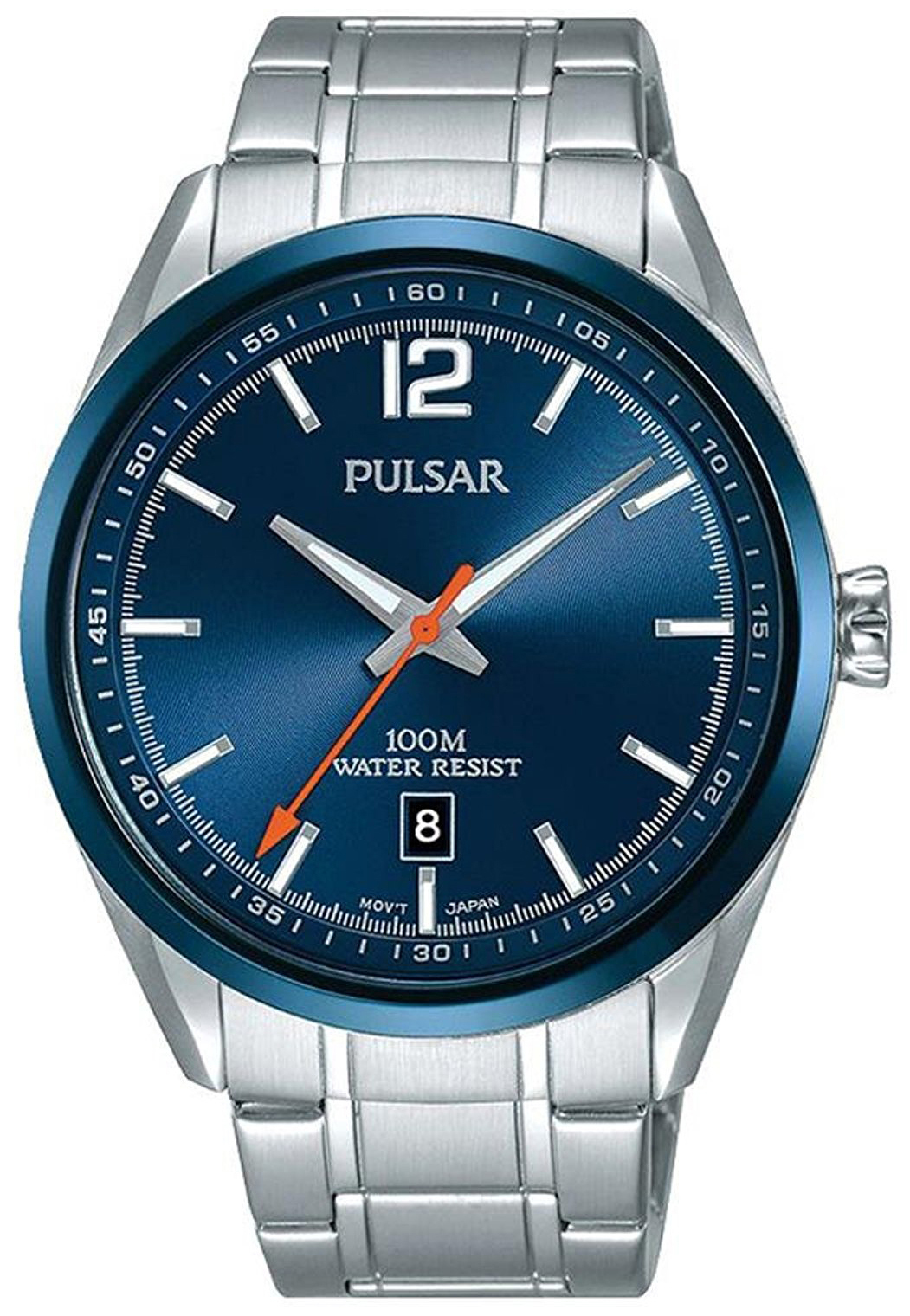 Pulsar Dress Herreklokke PS9515X1 Blå/Stål Ø42 mm - Pulsar