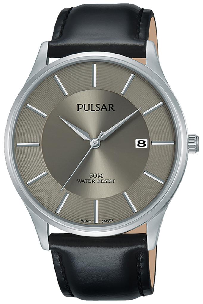 Pulsar 99999 Herreklokke PS9545X1 Grå/Lær Ø41 mm - Pulsar