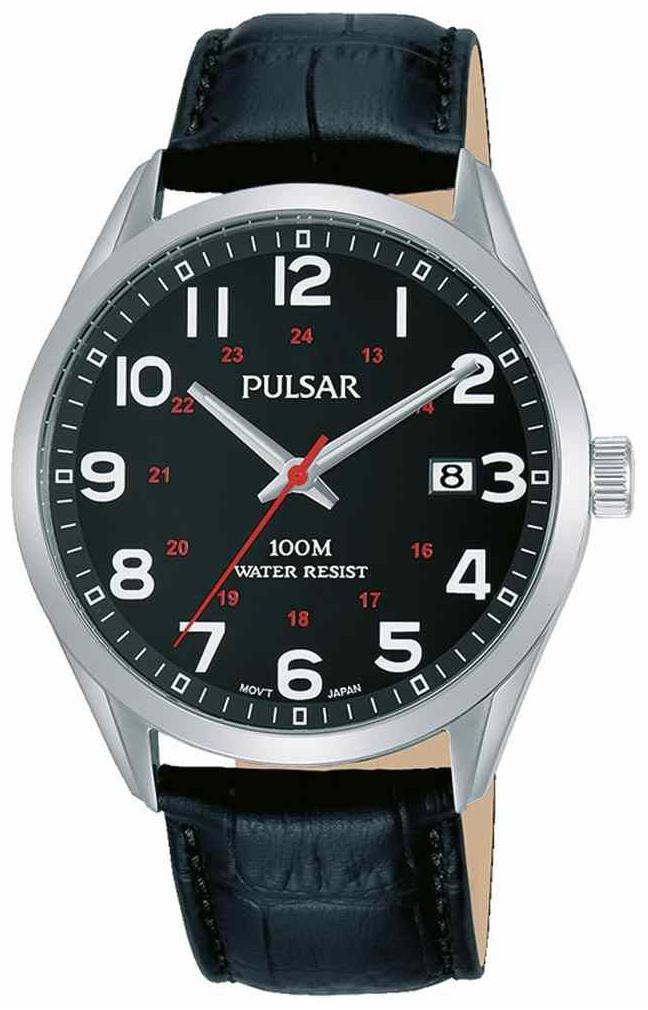 Pulsar 99999 Herreklokke PS9569X1 Sort/Lær Ø39 mm - Pulsar