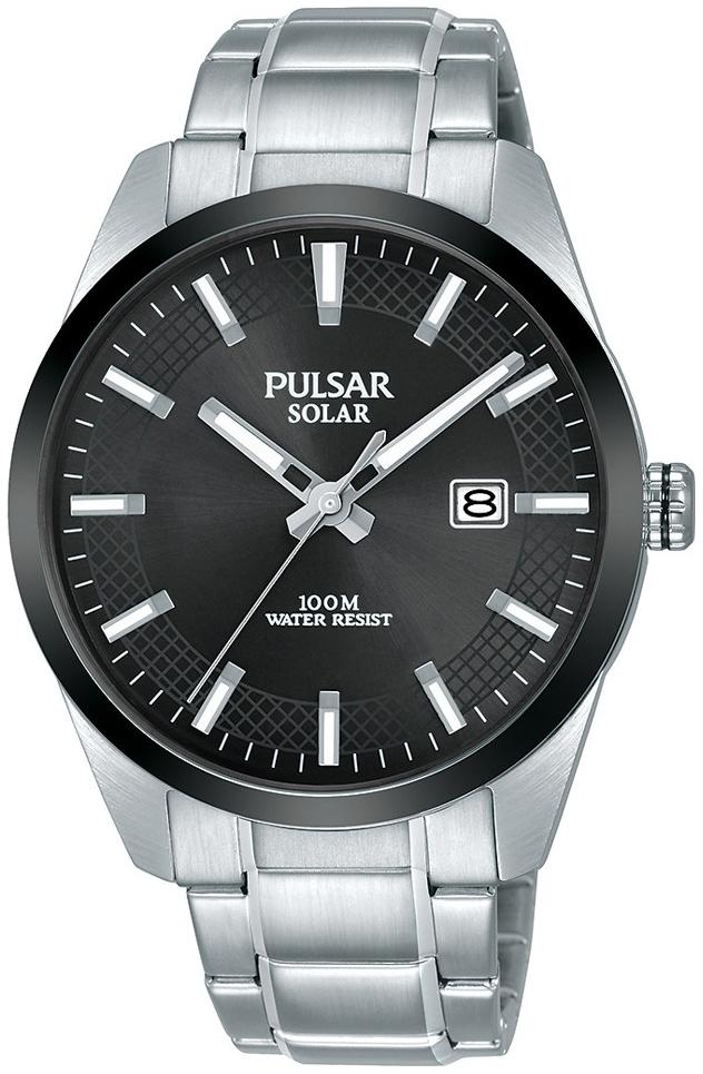 Pulsar Solar Herreklokke PX3183X1 Sort/Stål Ø40 mm - Pulsar