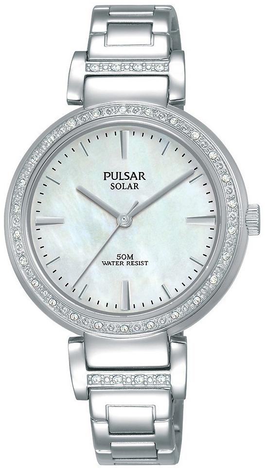 Pulsar Solar Dameklokke PY5045X1 Hvit/Stål Ø32 mm - Pulsar