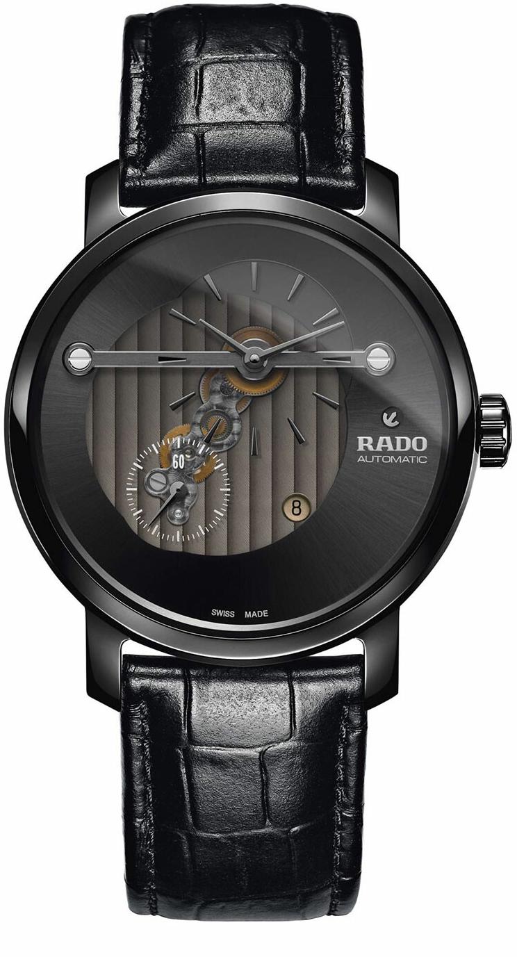 Rado Diamaster Herreklokke R14060156 Grå/Lær Ø43 mm - Rado