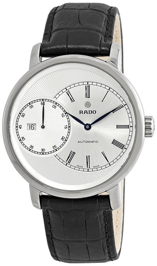 Rado Diamaster Herreklokke R14129136 Sølvfarget/Lær Ø43 mm - Rado