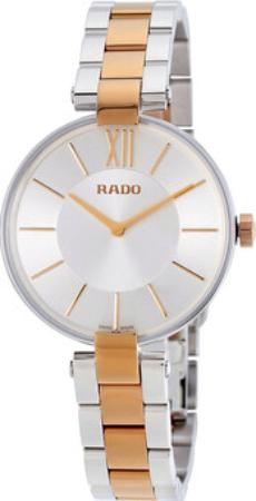 Rado Coupole Dameklokke R22850103 Sølvfarget/Rose-gulltonet stål - Rado