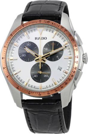 Rado Hyperchrome Herreklokke R32259105 Sølvfarget/Lær Ø45 mm - Rado